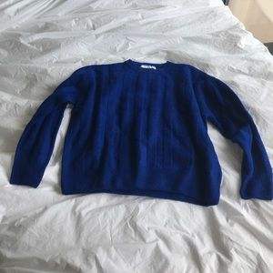 Blue texture Mango Sweater